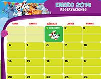 Calendario Puch 2014 - Pizza Hut