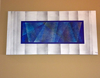 "Visionary Blue ""48x24x1.5"" Original Abstract on Canvas"