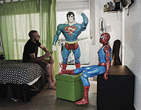 With my friends Superheroes