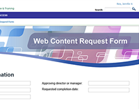 Web content request form