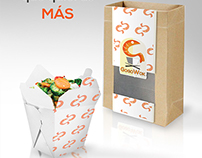 Gogo WOK branding y packaging design. (preview)