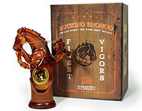 Packaging: Bucking Bronco vigor bottle
