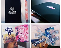 Work Hard Stay Humble Typography Book