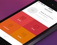 Event App UI Concept