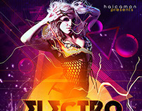 Electro House Party Flyer