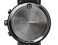 ASUS Zenwatch 3 product rendering