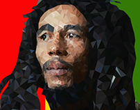 Bob Marley Low Poly Portrait