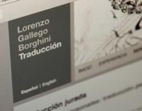 Lorenzo Gallego. Traducció