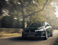 VRED, Evo X Woburn Woods | CGI, Photography, Retouching