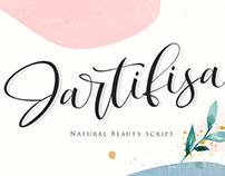 FREE FONT   Jartifisa   Natural Beauty Script