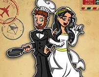 Work ~ Illustrated Wedding Invite