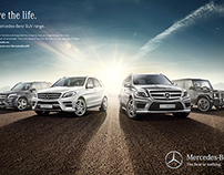 Mercedes Benz SUV cars campaign