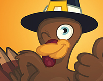 Thanksgiving Day Stickers / BlackBerry