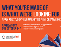 Creative Ink Recruitment Fall 2014