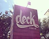 Visual Identity - Deck Restô