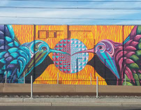 Hear the Rail a Hummin' (Mural)