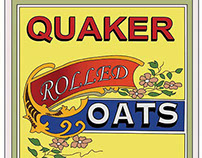 Recreation of Quaker Oats vintage graphics.