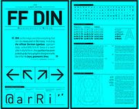 FF DIN - presentation sheet