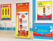 Standee and coupon Hung Viet Sauce
