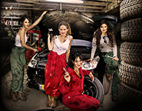 The Mechanic Girls Photo Manipulation