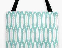 Sketched Feathers design on Tote