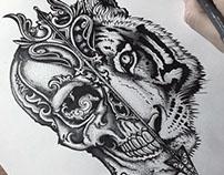 Skull vs Tiger