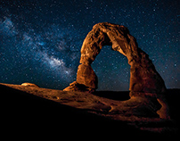 An Evening at Delicate Arch