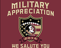 T-Shirt Design for FSU's Military Appreciation Game