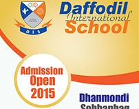Banner-Festoon-Sticker Design for School Admission Open