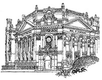 Old, historical buildings illos project