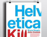 Helvetica Killer Poster