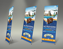Travel Roll-up Signage Banner Template