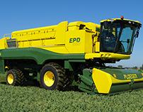 Design of pea harvester for Ploeger
