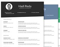 FREE Din A4 Resume / Curriculum Vitae PSD Template