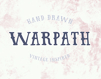 WARPATH Hand drawn typeface