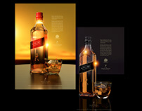 JOHNNIE WALKER Magazine graphic design