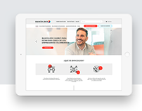 Bancoldex - responsive web design for Colombian Bank.
