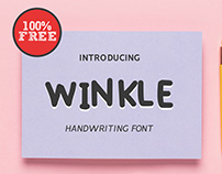 Winkle Handwriting Free Font