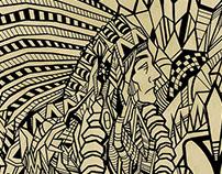 Apache - estampa geométrica