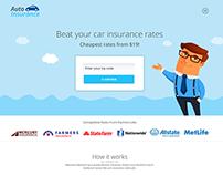 Auto Insurance | Landing page design