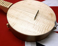 Solid Wooden Top Banjo