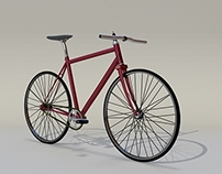 3D fixed gear bike
