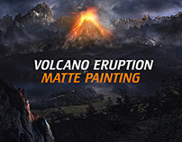 Volcano eruption - Matte Painting