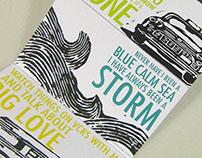 Postcard Set with linoleum prints
