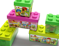 Structural packaging design for LEGO and DUPLO