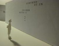 Gertrude Stein :: typography.installation
