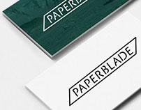 Paperblade logo design