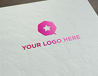 Free realistic logo mock-up!