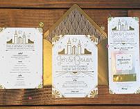 Wedding stationery and decor