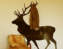 Coat hanger, SZUGA Deer No2